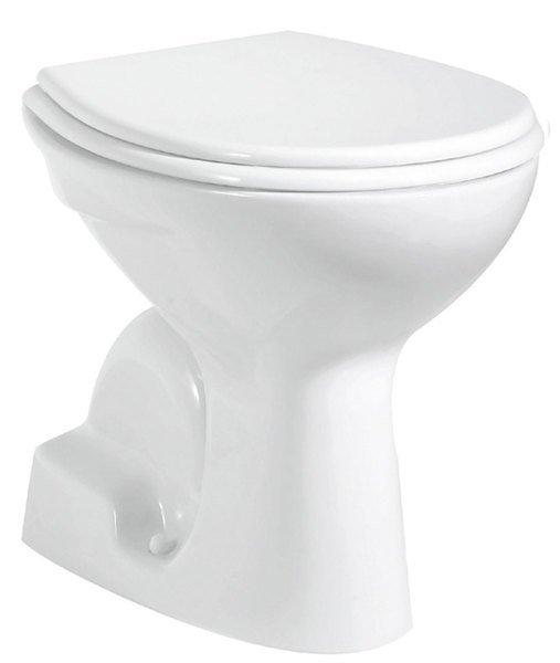WC mísa samostatně stojící 36x54cm, spodní odpad, bílá