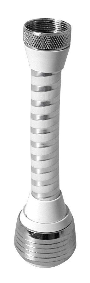 Perlátor dlouhý s přepínačem, vnitřní závit F22x1, chrom a plast