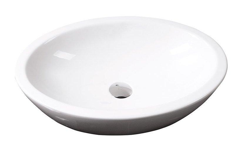 SISTEMA keramické umyvadlo oválné bez přepadu 60x42cm, bílá
