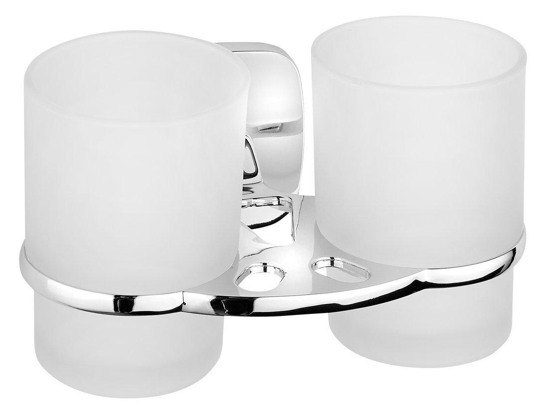 RUMBA dvojitý držák skleniček, mléčné sklo