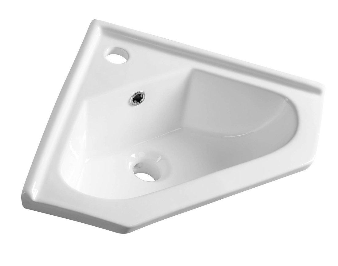 Keramické umyvadlo rohové 41x18x41cm, nábytkové
