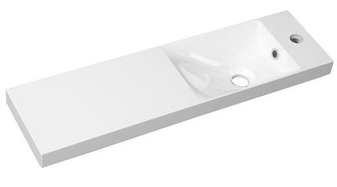 AGOS umyvadlo 80x22cm, litý mramor, bílá, levé/pravé
