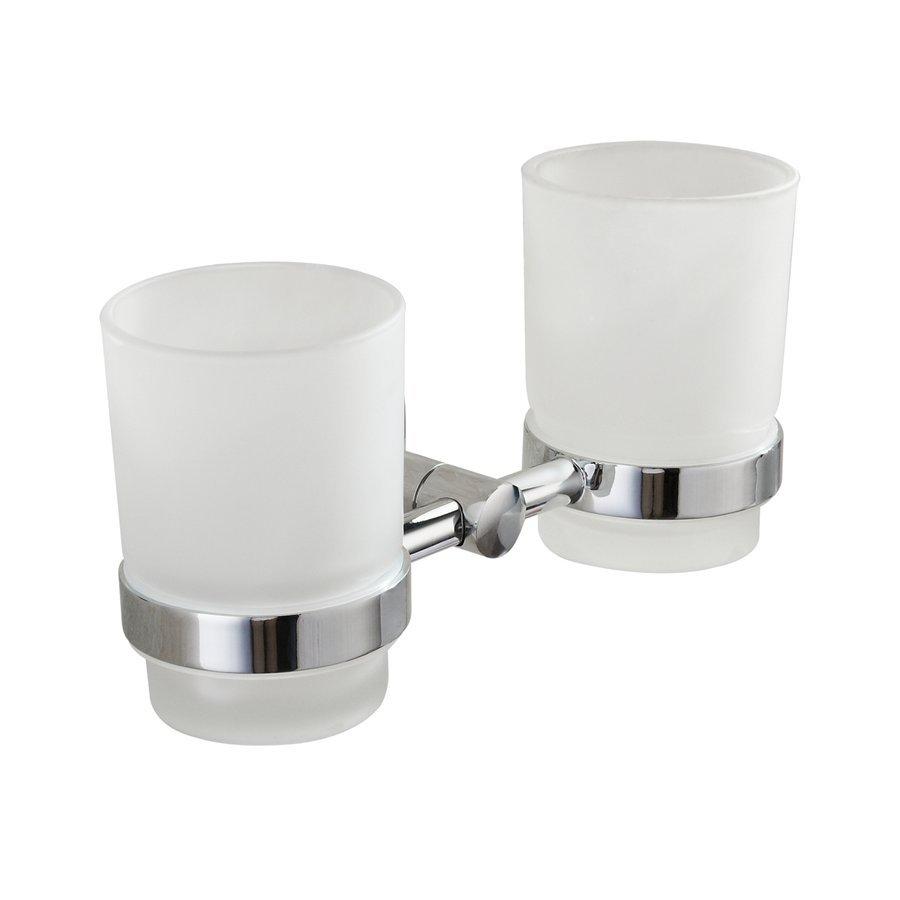 SAMBA dvojitý držák skleniček, mléčné sklo