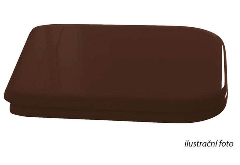 WALDORF WC sedátko Soft Close, dřevo masiv, ořech/bronz