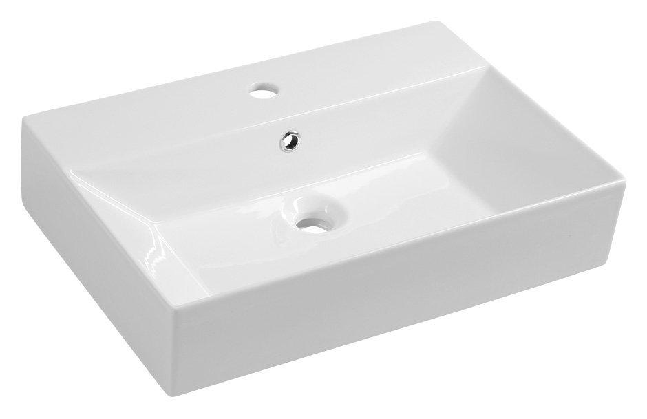 SISTEMA keramické umyvadlo 60x42cm, bílá
