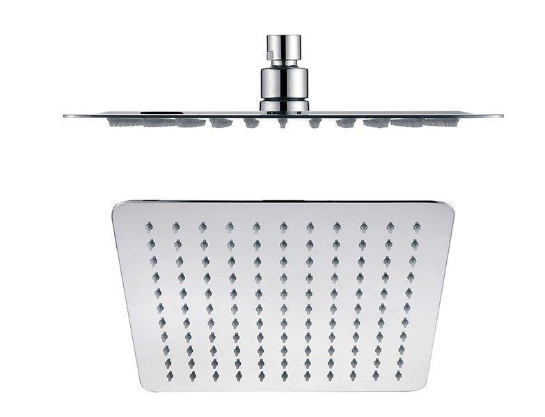 SLIM hlavová sprcha, čtverec 250x250mm, leštěný nerez
