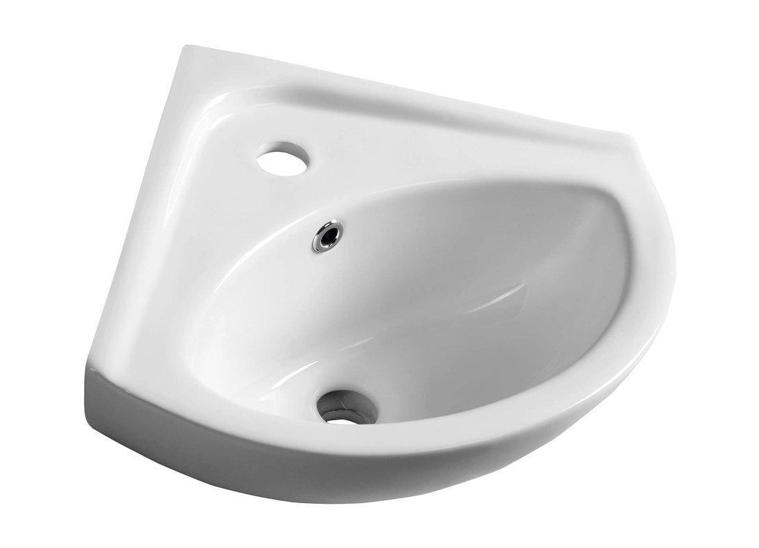 LUIGI keramické rohové umývátko 34x34cm, bílá