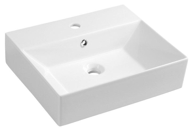 SISTEMA keramické umyvadlo 50x42cm, bílá