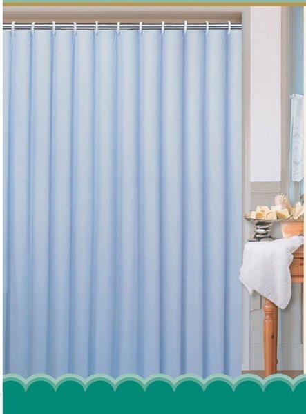 Závěs 180x200cm, 100% polyester, jednobarevný modrý