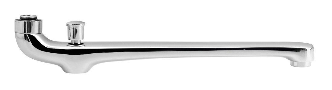 Výtokové ramínko spřepínačem, 30cm, ploché, chrom