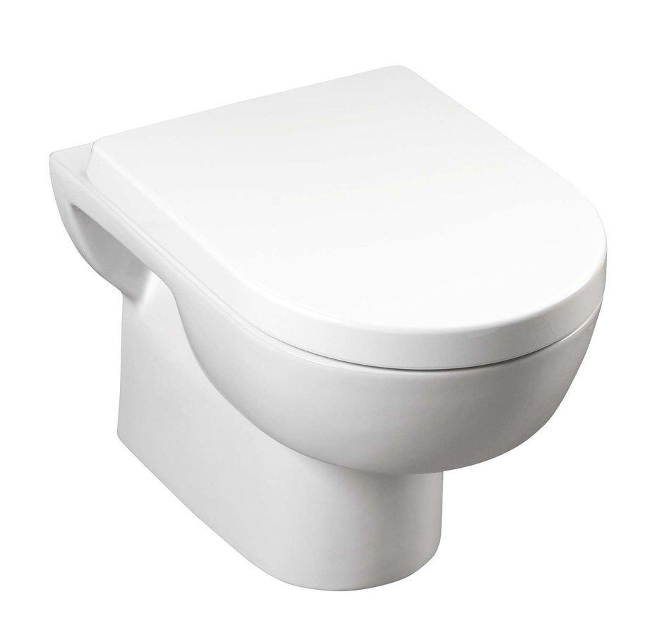 MODIS závěsná WC mísa, 36x52 cm, bílá