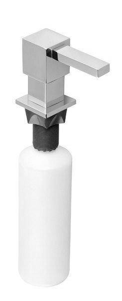 Zápustný dávkovač mýdla, hranatý, chrom