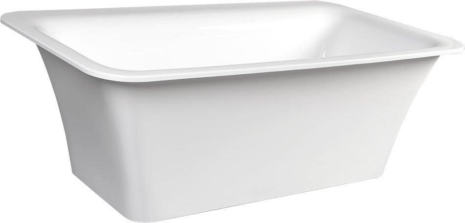 SAIMA volně stojící vana, akrylát, 176x95x60cm, bílá
