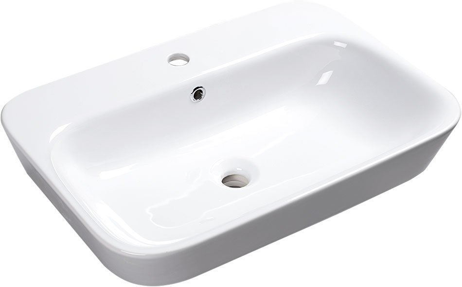 SAVANA zápustné keramické umyvadlo 65x17x45 cm