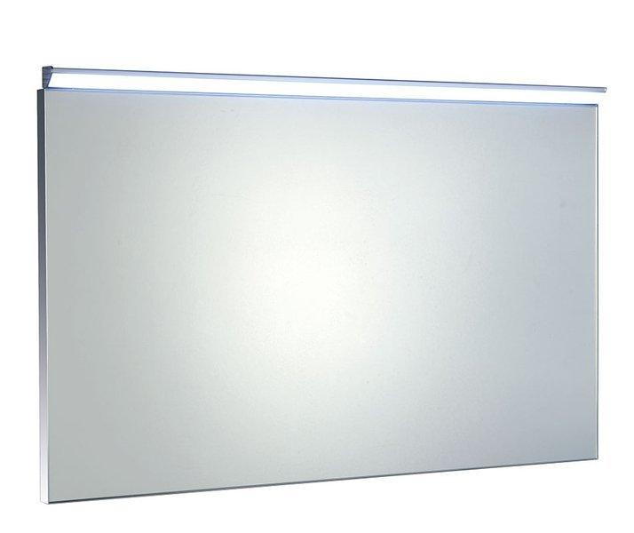 BORA zrcadlo v rámu 1000x600mm s LED osvětlením a vypínačem, chrom