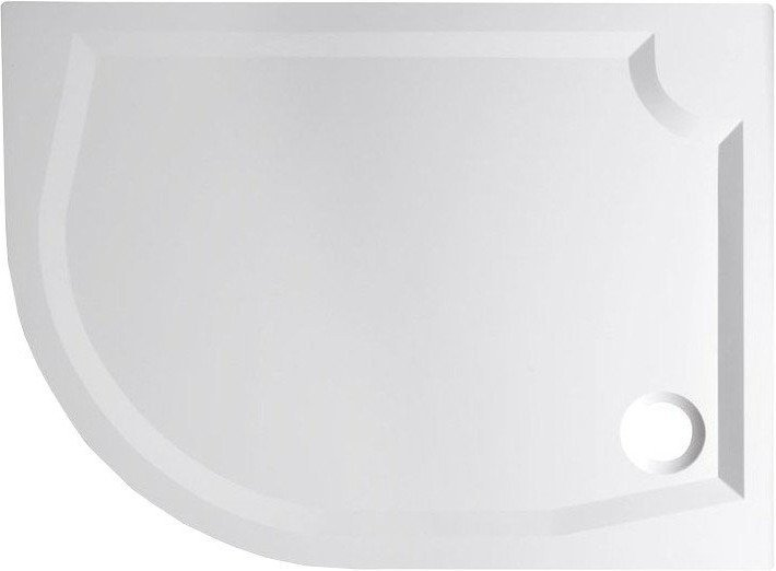 RIVA sprchová vanička z litého mramoru, čtvrtkruh 120x90cm, pravá (GR1290R)