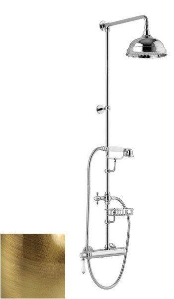 VIENNA sprch. sloup s pákovou baterií, mýdlenka, v. 1267mm, bronz