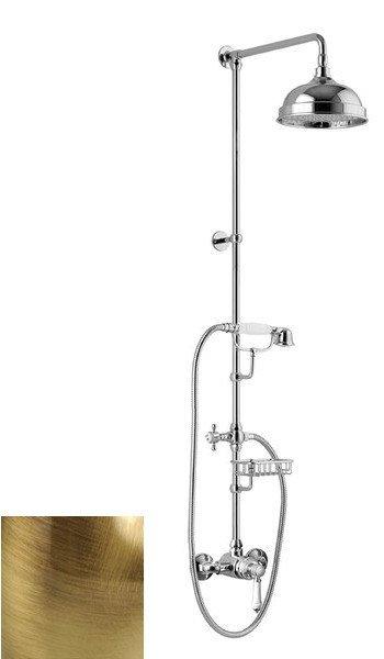 VIENNA sprch. sloup s pákovou baterií, mýdlenka, v. 1291mm, bronz