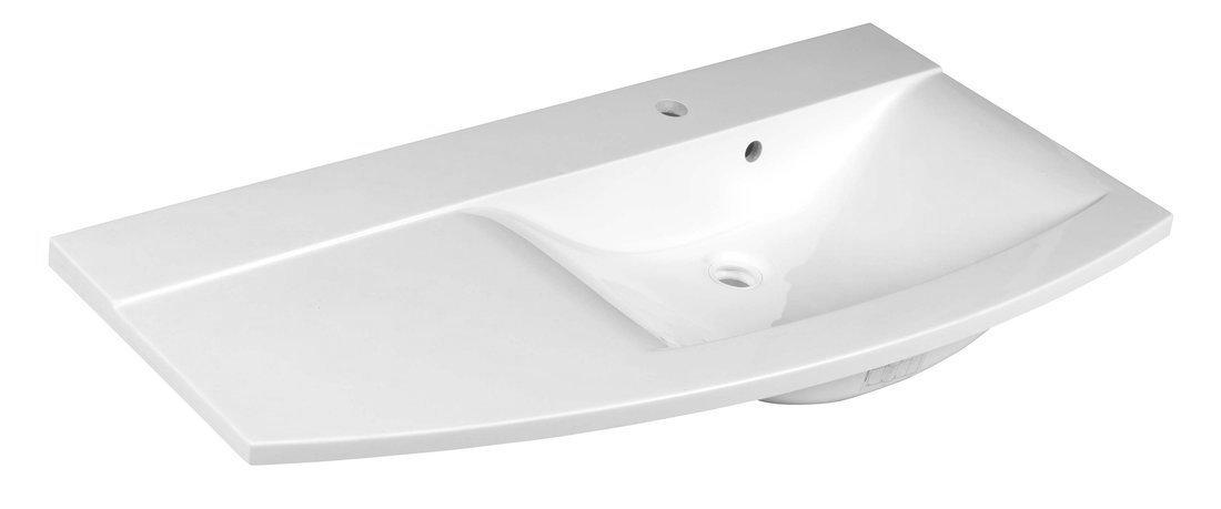 ARAS umyvadlo 105,2x50,5cm, litý mramor, pravé, bílá