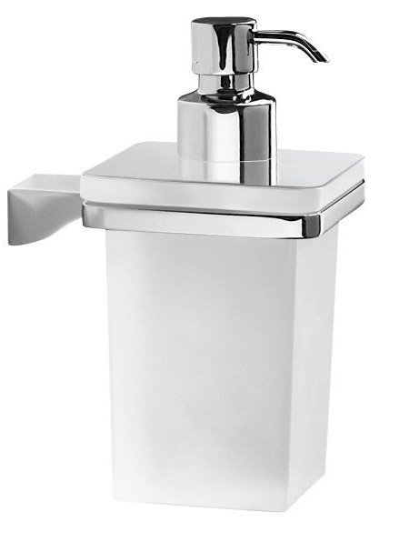 GLAMOUR dávkovač mýdla, chrom/mléčné sklo