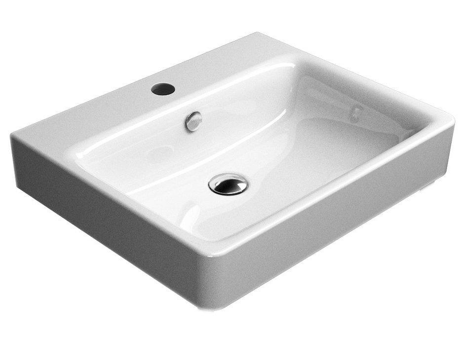 SAND keramické umyvadlo 60x50 cm, bílá ExtraGlaze