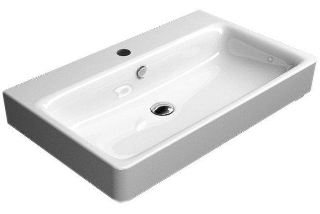 SAND keramické umyvadlo 80x50 cm, bílá ExtraGlaze