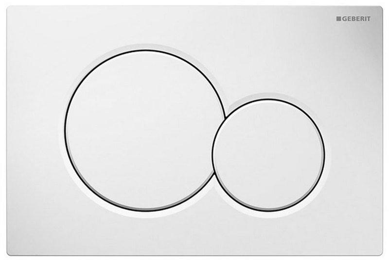 GEBERIT SIGMA01 ovládací tlačítko, pro 2 množství splachování, bílá