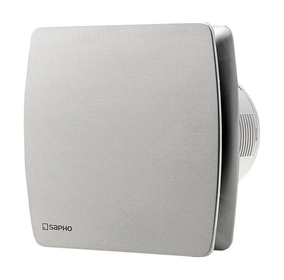 LEX koupelnový ventilátor axiální, 15W, potrubí 100mm, nerez