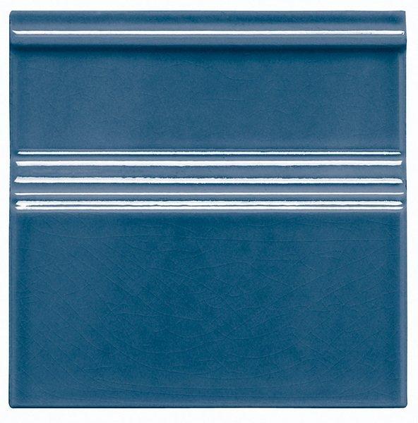MODERNISTA Rodápie Clasico C/C Azul Oscuro 15x15