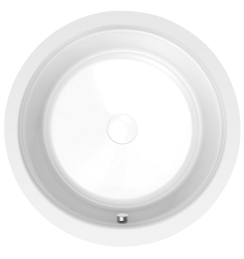 OBLO kulatá vana s konstrukcí 165x48cm, bílá