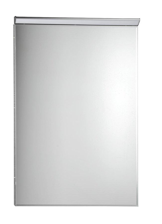BORA zrcadlo v rámu 600x800mm s LED osvětlením a vypínačem, chrom