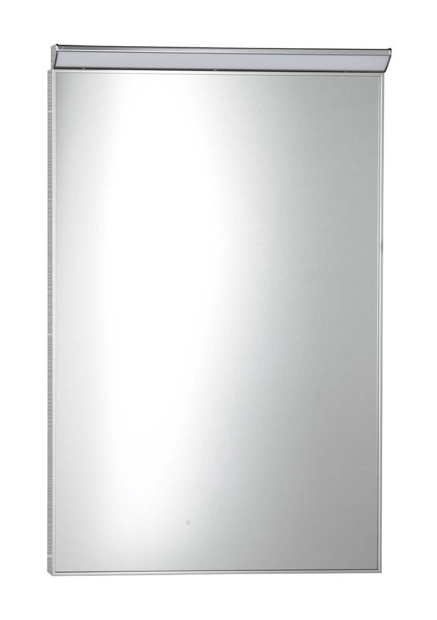 BORA zrcadlo v rámu 500x700mm s LED osvětlením a vypínačem, chrom