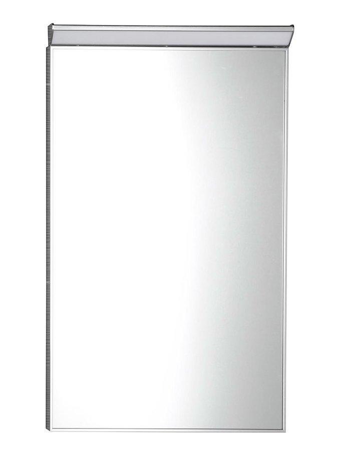 BORA zrcadlo v rámu 400x600mm s LED osvětlením a vypínačem, chrom
