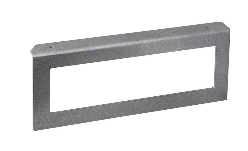 Podpěrná konzole 490x200x35mm, metalická stříbrná, pravá