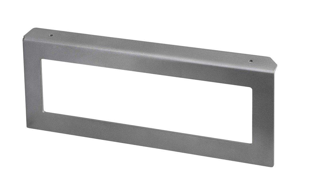 Podpěrná konzole 490x200x35mm, metalická stříbrná, levá