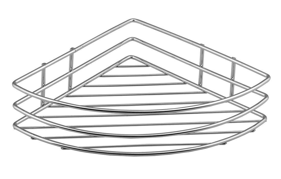 CHROM LINE drátěná police rohová jednoduchá, chrom