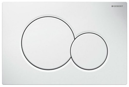 DUAL tlačítko k nádržce, bílé