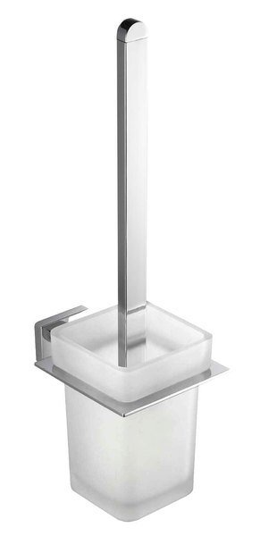 APOLLO WC štětka, mléčné sklo
