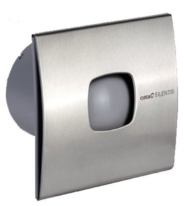 SILENTIS 10 INOX T koupelnový ventilátor axiální s časovačem, 15W, 100mm, nerez