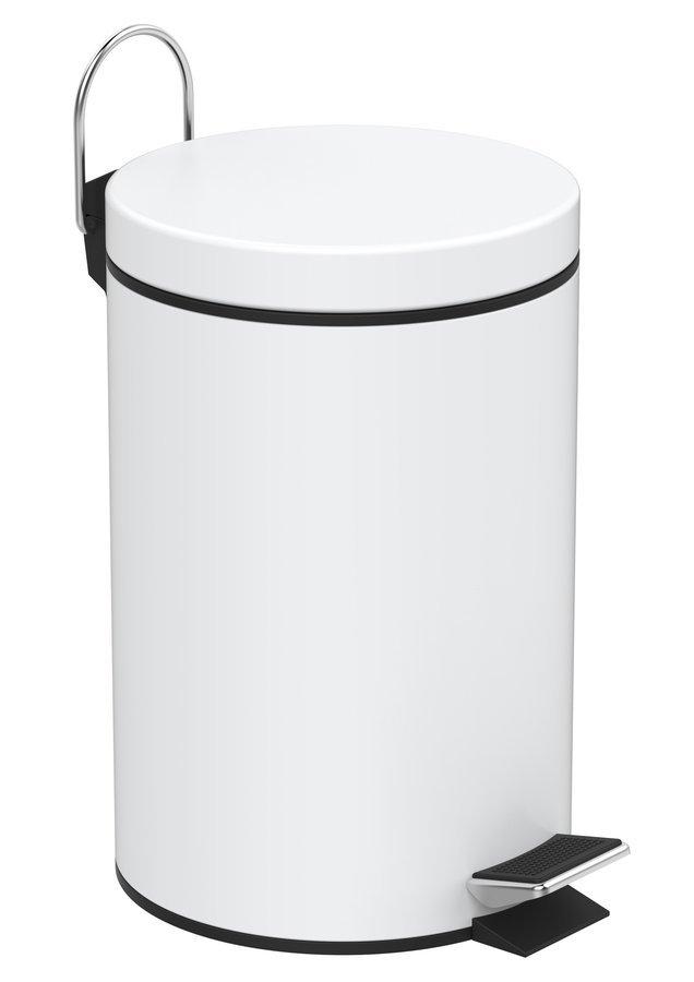 SIMPLE LINE odpadkový koš kulatý 3l, bílá