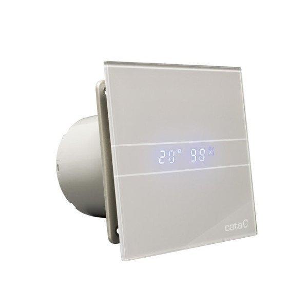 E-100 GSTH koupelnový ventilátor axiální s automatem,4W/8W,potrubí 100mm,stříbr