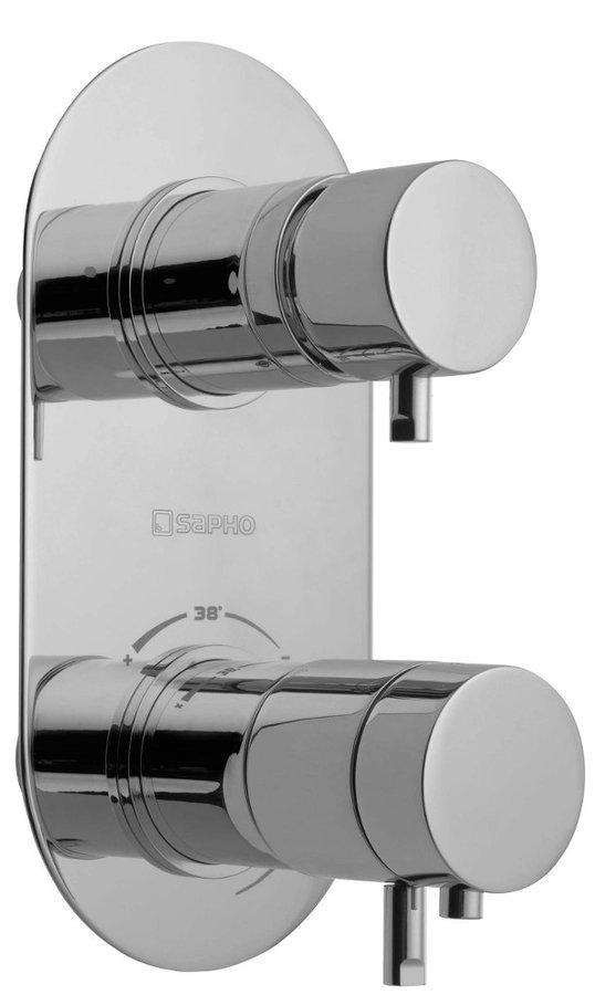 RHAPSODY podomítková sprchová termostatická baterie, 2 výstupy, chrom