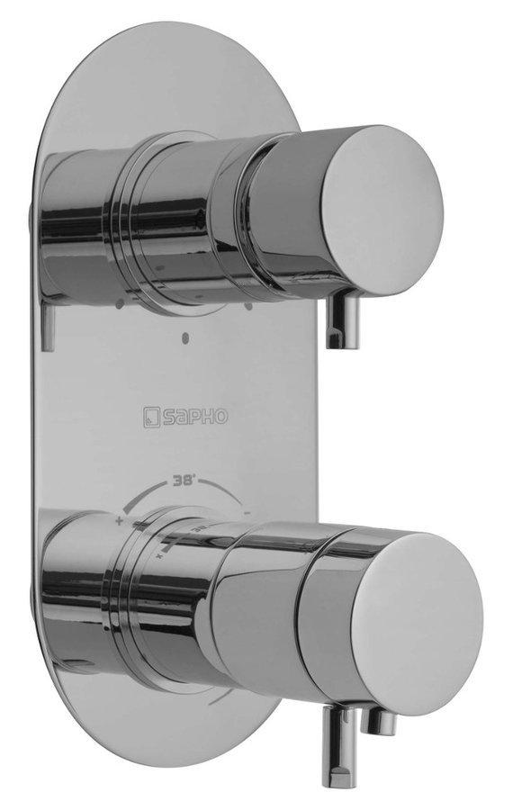 RHAPSODY podomítková sprchová termostatická baterie, 3 výstupy, chrom