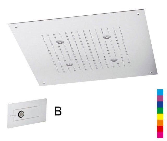 CHROMOTERAPIE hlavová sprcha 320x320mm, déšť, ovladač B, nerez