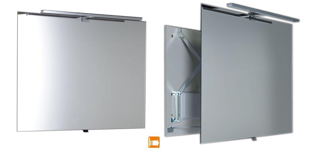 TIRA výsuvné zrcadlo s LED osvětlením 8W 800x600x54-356mm