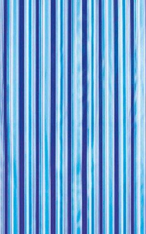 Sprchový závěs 180x180cm, vinyl, modrá, pruhy