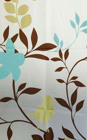 Sprchový závěs 180x180cm, vinyl, květovaný