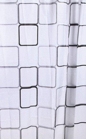 Sprchový závěs 180x180cm, vinyl, čtvercový vzor