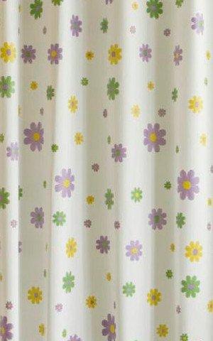 Sprchový závěs 180x200cm, vinyl, květovaný