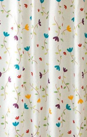 Sprchový závěs 180x200cm, polyester, květovaný